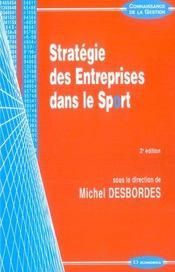 Strategie Des Entreprises Dans Le Sport - Intérieur - Format classique