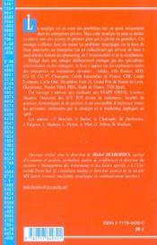 Strategie Des Entreprises Dans Le Sport - 4ème de couverture - Format classique