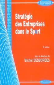 Strategie Des Entreprises Dans Le Sport - Couverture - Format classique