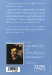 L'esthetique de rabelais - 4ème de couverture - Format classique