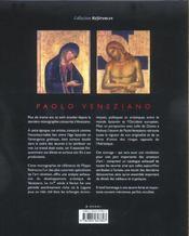 Paolo Veneziano - 4ème de couverture - Format classique