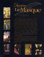 Derrière le masque - 4ème de couverture - Format classique