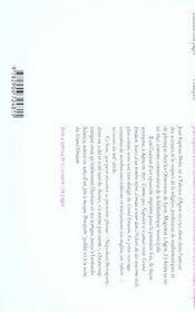 Le grand erratum ; jette le masque, Bonaparte - 4ème de couverture - Format classique
