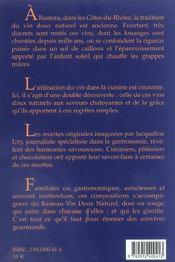 Rasteau Vin Doux Naturel Et Recttes Gourmandes - 4ème de couverture - Format classique