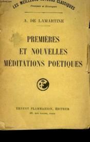Premieres Et Nouvelles Meditations Poetiques. - Couverture - Format classique
