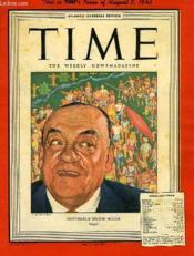 Time, Vol. Xlviii, N° 6, Aug. 5, 1946, Atlantic Overseas Edition - Couverture - Format classique