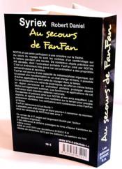 Au secours de Fanfan - 4ème de couverture - Format classique