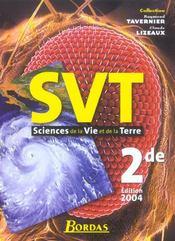 Svt 2de tavernier 2004 (édition 2004) - Intérieur - Format classique