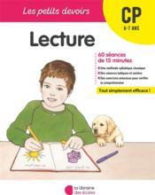 LES PETITS DEVOIRS ; lecture ; CP - Couverture - Format classique