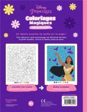 Coloriages magiques ; Disney Princesses ; cercles mystères - 4ème de couverture - Format classique