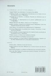 REVUE DROITS N.44 ; la Ve république , des institutions libérales ? - 4ème de couverture - Format classique