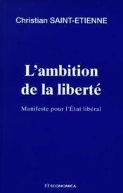 Ambition de la liberte - Couverture - Format classique