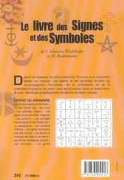 Le livre des signes et des symboles - 4ème de couverture - Format classique