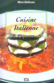 Cuisine Italienne - Couverture - Format classique