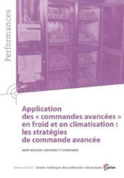 Application des commandes avancees en froid et en climatisation ; performances resultats des actio - Couverture - Format classique