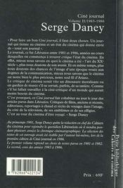 Ciné journal t.2 ; 1983-1986 - 4ème de couverture - Format classique