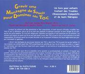 Gravir une montagne de soucis pour dominer ses toc un livre pour enfants traitant des troubles obses - 4ème de couverture - Format classique