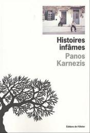 Histoires infames - Couverture - Format classique