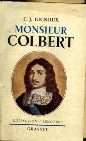 Monsieur Colbert. - Couverture - Format classique