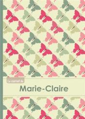 Le Carnet De Marie-Claire - Lignes, 96p, A5 - Papillons Vintage - Couverture - Format classique