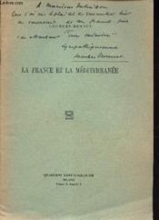 La France Et La Mediterranee. - Couverture - Format classique