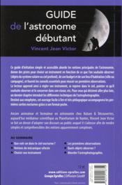 Guide de l'astronome débutant (4e édition) - 4ème de couverture - Format classique