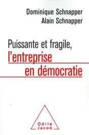 Puissante et fragile, l'entreprise en démocratie - Couverture - Format classique