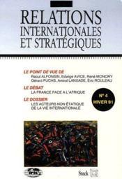 Relations internationales et stratégiques t.4 ; la France face à l'Afrique, les acteurs non étatique de la vie internationale - Couverture - Format classique