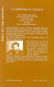 La Memoire Du Silence - 4ème de couverture - Format classique