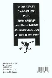 Decharge n 113 - 4ème de couverture - Format classique