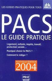 Pacs, Le Guide Pratique - Intérieur - Format classique