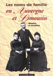 Noms De Famille En Auvergne Et Limousin - Intérieur - Format classique