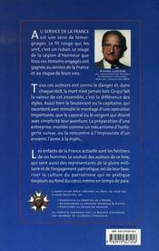 Au service de la france - 4ème de couverture - Format classique