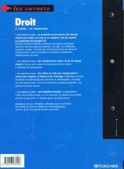 Droit ; 1e Stt - 4ème de couverture - Format classique