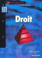Droit ; 1e Stt - Intérieur - Format classique