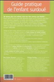 Guide pratique de l'enfant surdoué ; repérer et aider les enfants précoces - 4ème de couverture - Format classique