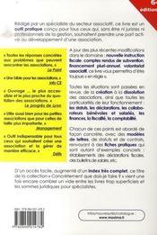 Créer, animer, gérer, dissoudre une association (6e édition) - 4ème de couverture - Format classique