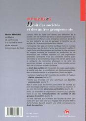 Memento dt stes autres groupe - 4ème de couverture - Format classique