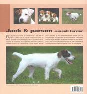 Jack & parson ; russell terrier - 4ème de couverture - Format classique