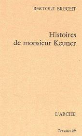 Histoires de monsieur keuner - Couverture - Format classique