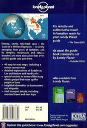 Laos ; 4e Edition - 4ème de couverture - Format classique