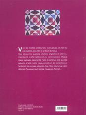 Patchwork mille bouts tissus - 4ème de couverture - Format classique