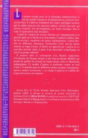 L'intrapreneuriat - 4ème de couverture - Format classique