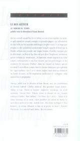 Arthur ; au miroir du temps - 4ème de couverture - Format classique
