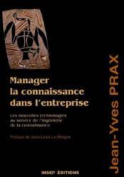 Manager La Connaissance - Couverture - Format classique