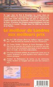 Londres 1999 Let'S Go - 4ème de couverture - Format classique