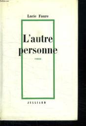 L Autre Personne. - Couverture - Format classique