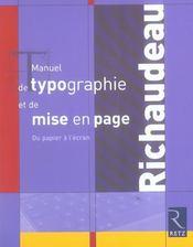 Manuel De Typographie Mise Pag - Intérieur - Format classique