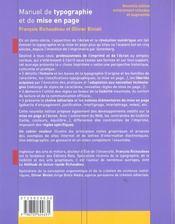 Manuel De Typographie Mise Pag - 4ème de couverture - Format classique