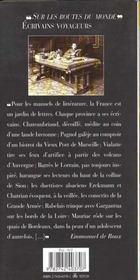 La France des écrivains - 4ème de couverture - Format classique